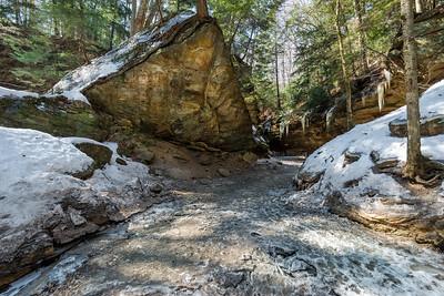Wedge Rock In Winter