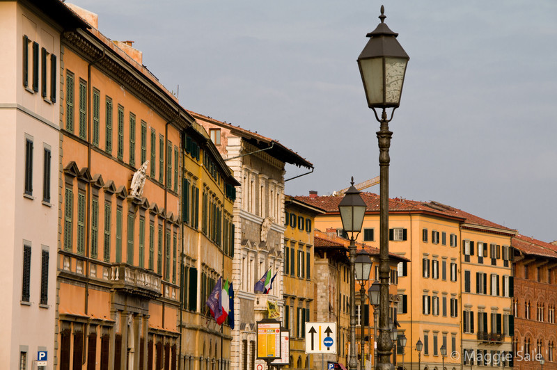 Street by River Arno, Pisa