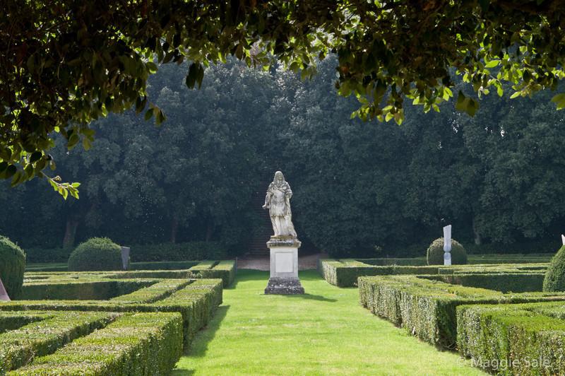 Italian garden in San Quirico