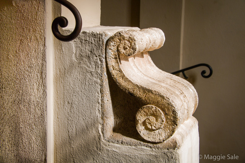 Staircase detail, Montepulciano