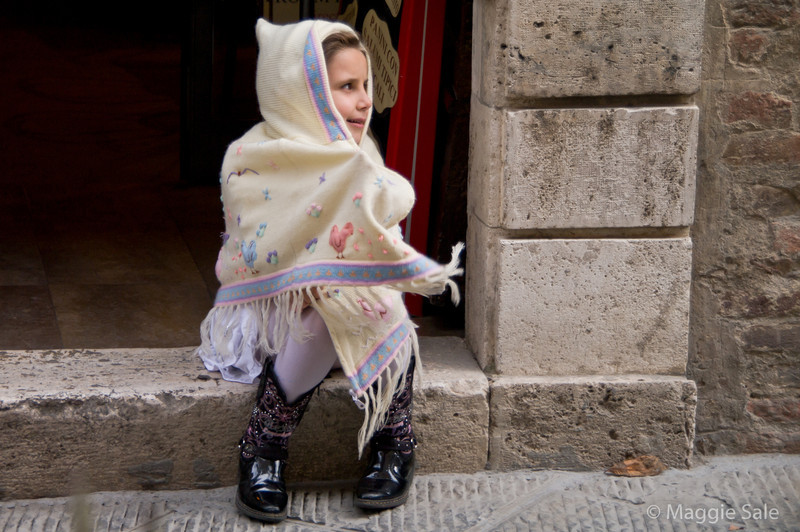 Young girl, Montepulciano