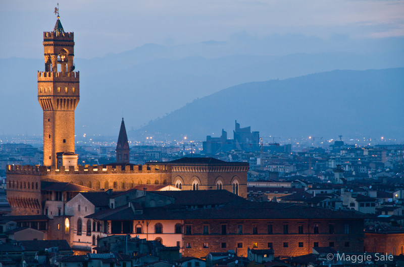 Palazzo Vecchio at night, Florence