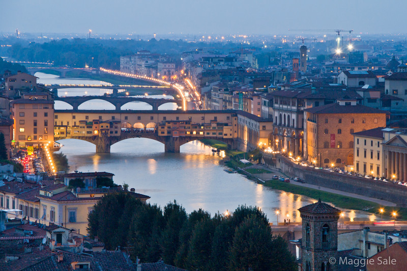 River Arno at night, Florence