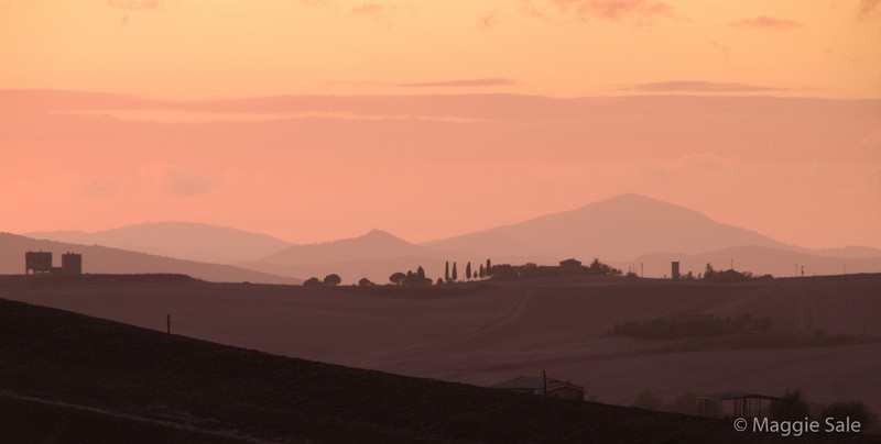 Sunset over Val d'Orcia