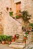 Exterior stairs, Montechiello