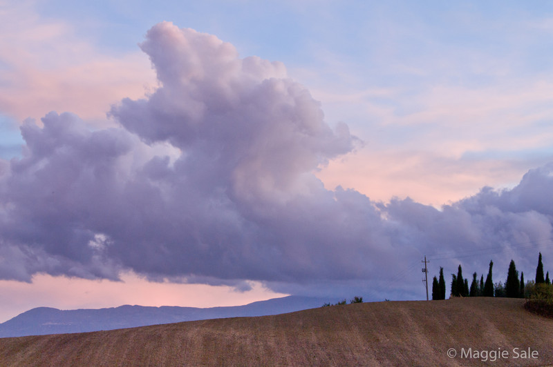 Clouds over Val d'Orcia