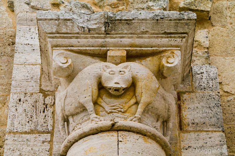 San Antimo Abbey pillar detail