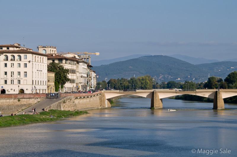 River Arno and modern Bridge, Florence