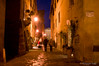 Pienza street at night