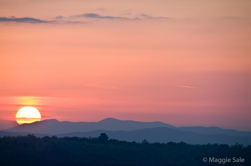 Sunset from Montepulciano