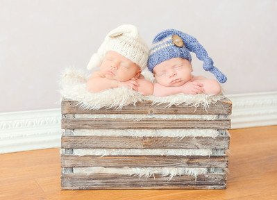 Timeless newborn twins photography
