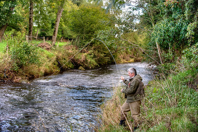 Fly fishing the River Blackwater Co Tyrone