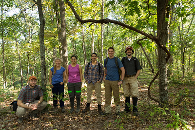 Tyson seed-trap collection team (Sep. 2015)