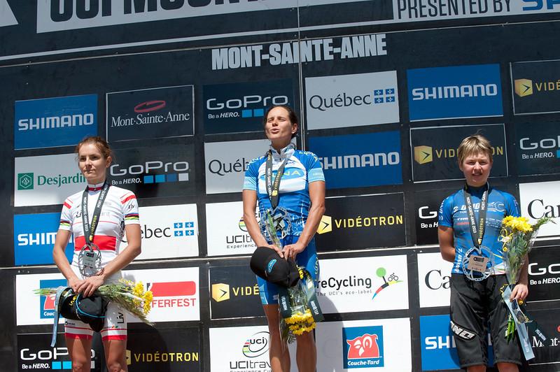 Maja Wloszczowska (Pol) Giant Pro XC Team / Katerina Nash (Cze) Luna Pro Team / Tanja Zakelj (Slo) Unior Tools Team