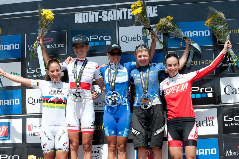 Julie Bresset (Fra) BH - SR Suntour - KMC / Maja Wloszczowska (Pol) Giant Pro XC Team / Katerina Nash (Cze) Luna Pro Team / Tanja Zakelj (Slo) Unior Tools Team /  Lea Davison (USA) Specialized Racing XC
