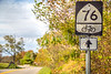 Bike Route 76 sign near Cyrus McCormick's Farm; Raphine, Virginia - C3-3 - 72 ppi