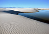Lake Lucero - an ephemeral lake (existing for a short period of time) - where the dissolved gypsum flows from the mountains that surround the Tularosa Basin - White Sands National Monument - New Mexico