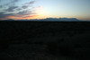 Sunset over the Chisos Mountains - view looking from the SE.