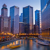 Chicago River at Golden Hour