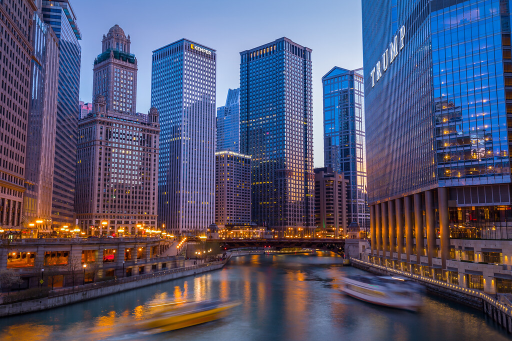 Chicago River at Golden Hour