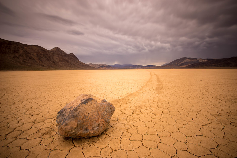 Thunderstrom clouds over the Racetrack in Death Valley