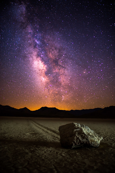 The Milky Way over Race Track Playa, Death Valley