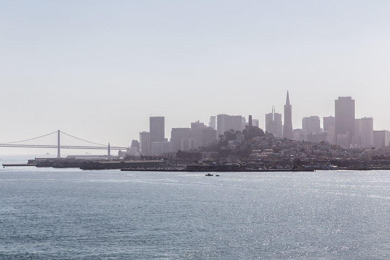 The San Francisco skyline from Alcatraz.