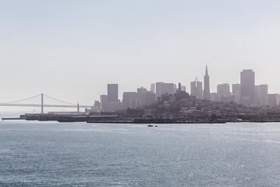 The San Francisco skyline from Alcatraz.