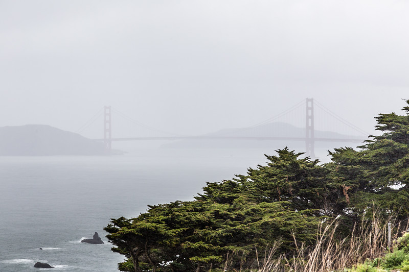 Foggy Golden Gate Bridge...