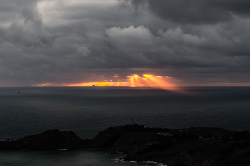 Sunset at the Marin Headlands.