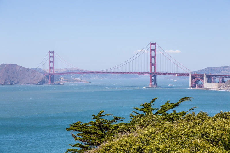 Can't go to San Francisco without a picture of the Golden Gate Bridge...