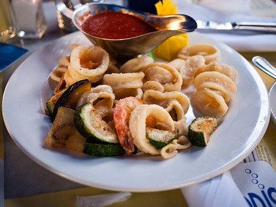 Calamari appetizer from Spris in Miami Beach, FL.  It was not on their normal menu.