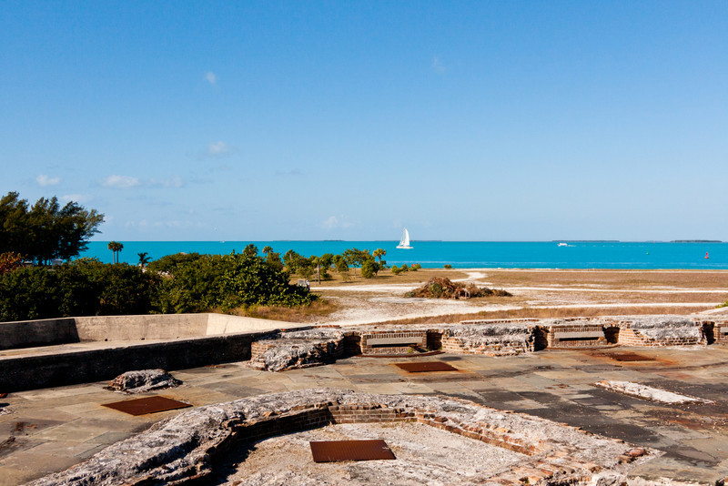 View from atop Fort Zachary Taylor