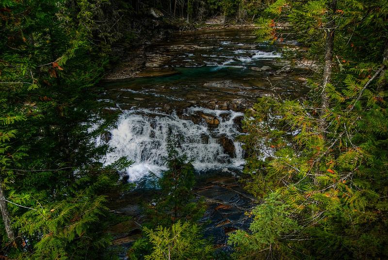 McDonald Falls, Glacier National Park.