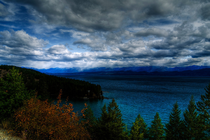 Flathead Lake & Mission Range, Rocky Mountains.