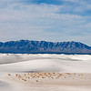San Andres Mountains, White Sands National Monument.
