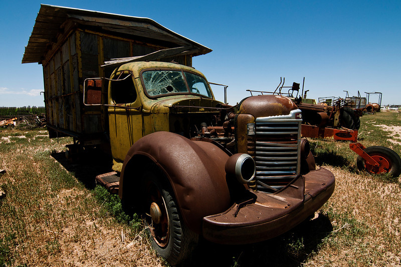 Old truck on Joy's Grandpa's ranch, Hagerman, New Mexico.