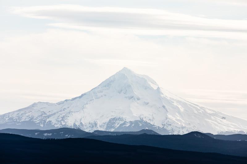 Mt. Hood rising high east of Portland, Oregon!