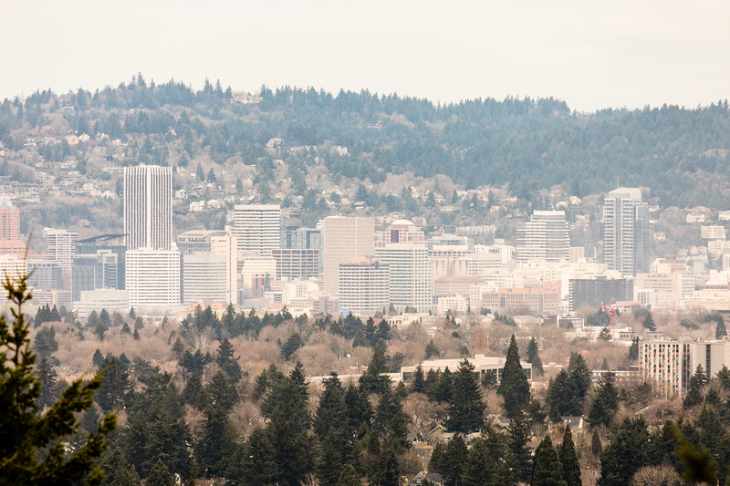 Downtown Portland from a few miles away.  Its a nice city - big enough to have alot to offer but not overly large!