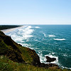 View of the beach from North Head Lighthouse, Cape Disappointment State Park, Oregon