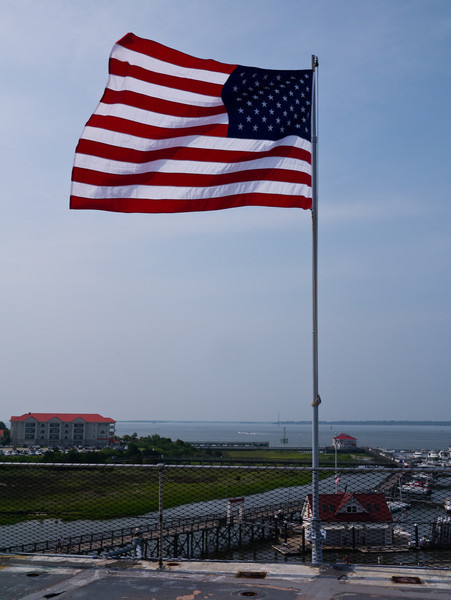 Flag abord the USS Yorktown.