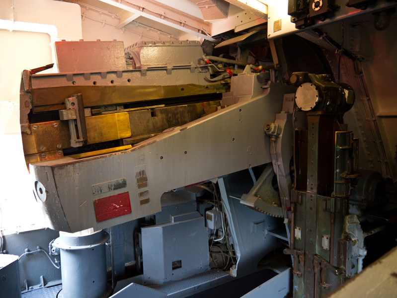 "Inside the rear 5"" gun."