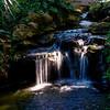 waterfall in the Japanese garden, Botanic Gardens, Ft. Worth.
