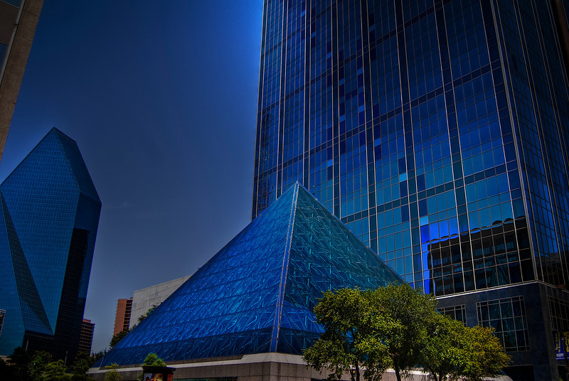 Glass Pyramid building.