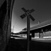 The Depot, Tyler, Texas, black and white