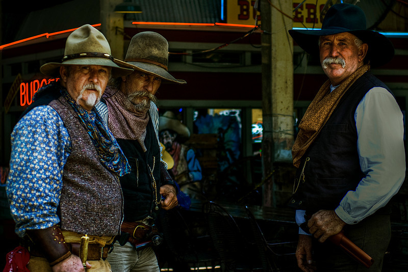 Cowboys at the Ft. Worth Stockyards.