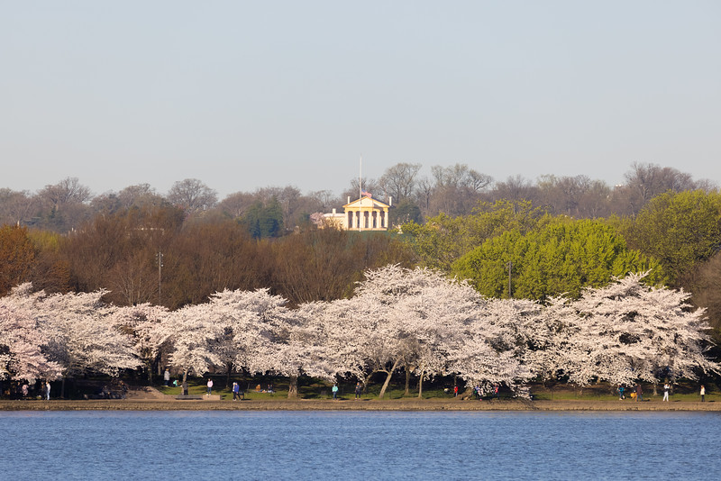 "This stately structure overlooking the Tidal Basin is Arlington House, something that we did not know until today.  This building was constructed by a step-descendent of George Washington.  It served as a home, a memorial to George Washington, Robert E. Lee's house, and now a memorial to Lee operated by the NPS.  Their website notes that the memorial ""honors him for specific reasons.""  Quite a bit of history in this structure that we only know because we noticed it in this photo!"