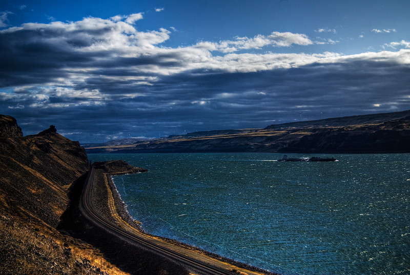Barge on the Columbia River.