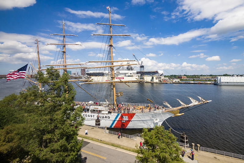 USCGC Eagle Moored in Portsmouth Virginia on the Elizabeth River