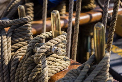 Various Ropes Used to Sail the USCGC Eagle